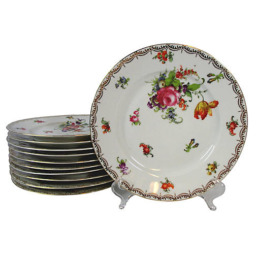 Antique Floral Plates S/10  sc 1 st  One Kings Lane & Plates | One Kings Lane