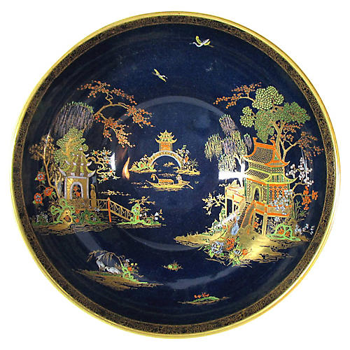 Cobalt Chinoiserie Center Bowl