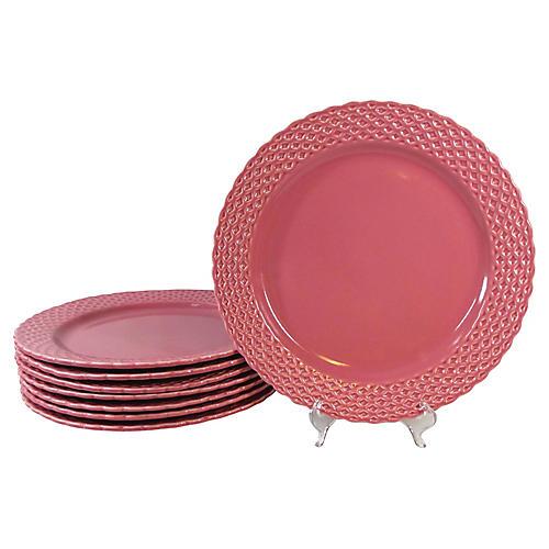 Majolica Service / Dinner Plates, S/8