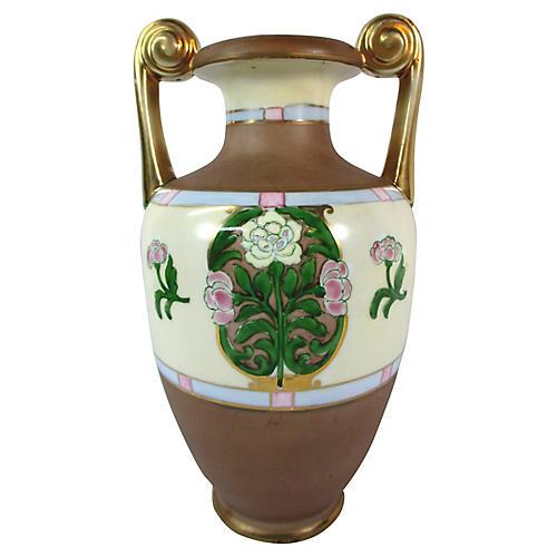 Nippon Art Deco Hand-Painted Vase