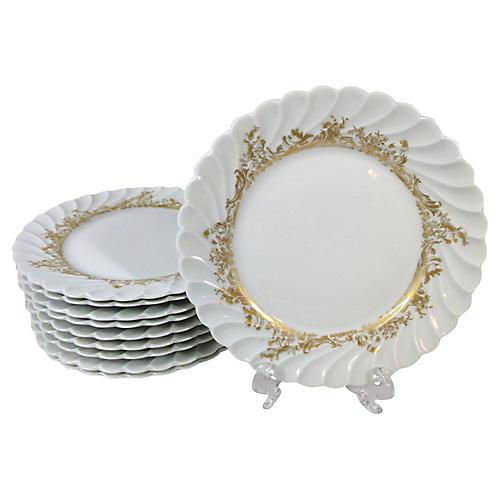 Haviland Dessert Plates, S/10
