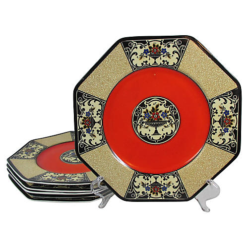 Wedgwood Autumn Colors Lunch Plates, S/6