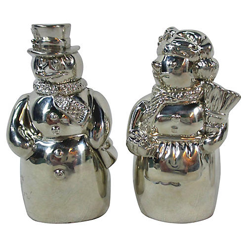 Lenox Snowman Salt & Pepper Shakers