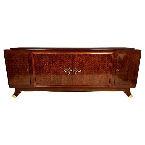 1930s French Art Deco Mahogany Buffet