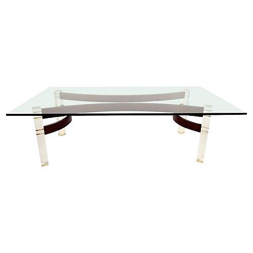 Midcentury Coffee Table w/ Lucite Legs