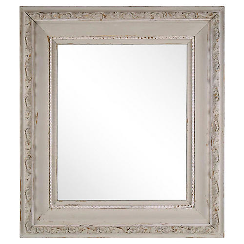 Late-19th-C. Carved Painted Mirror