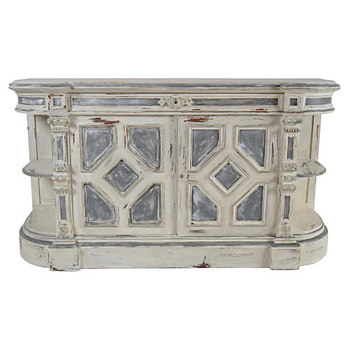 19th C. French Painted Oak Sideboard
