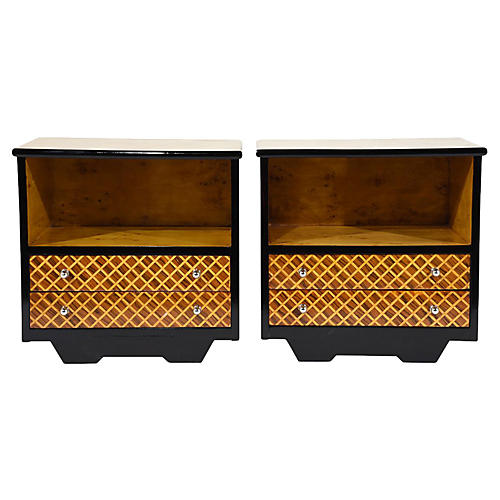 Midcentury Modern Nightstands, Pair
