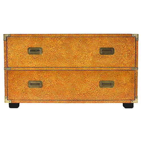 Campaign-style Low Chest of Drawers