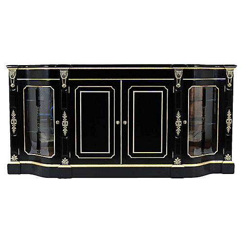 Louis XVI Ebonized Buffet by Henredon