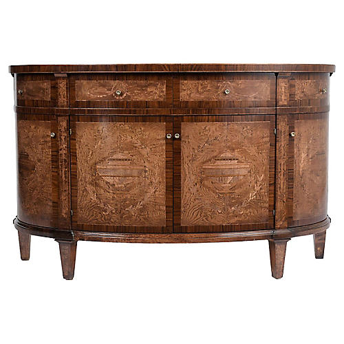 Louis XVI Inlaid Demilune Buffet