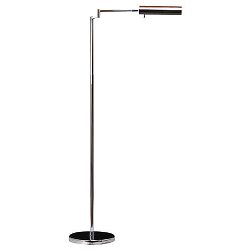 Mid-Century Modern Chrome Floor Lamp