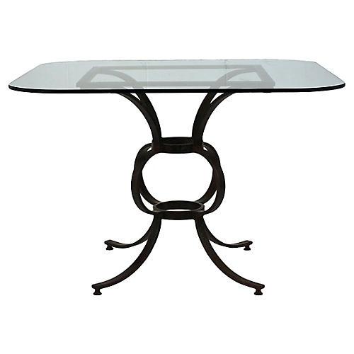Antique Wrought Iron Patio Table