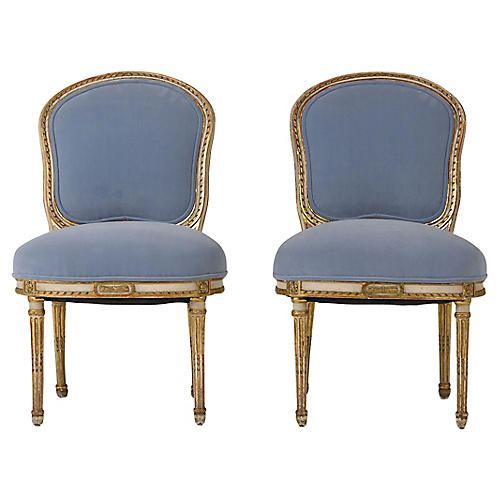 Pair of Louis XVI-style Side Chairs
