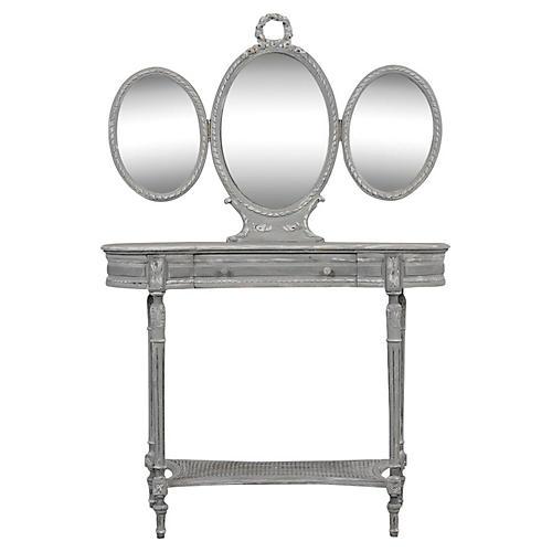 Louis XVI-Style French Walnut Vanity