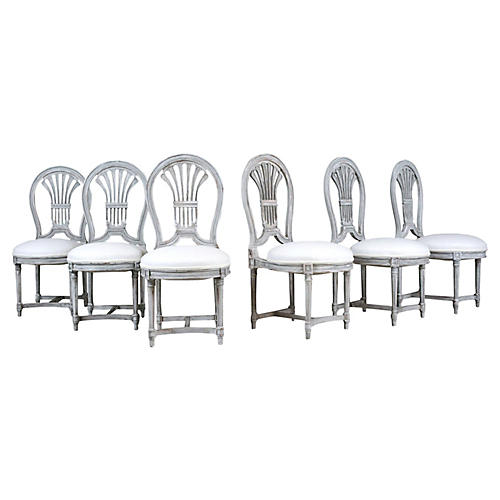 Set of 6 Regency Style Dining Room Chair