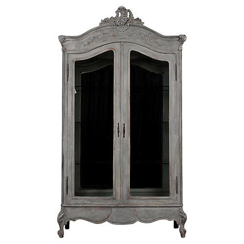 French Louis XV Style Two-Door Vitrine