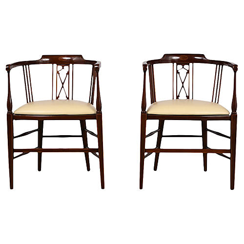 Pair of Antique Regency Style Armchairs