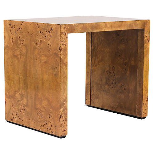 Modern Burled Lacquer Side Table