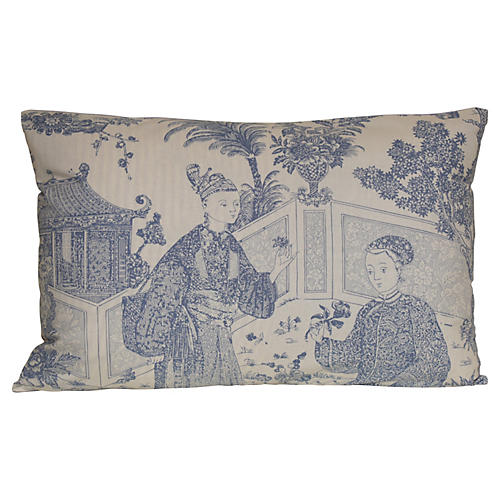 Periwinkle Chinoiserie Pillow