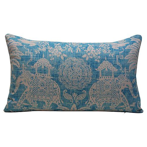 Turquoise Elephant Pillow