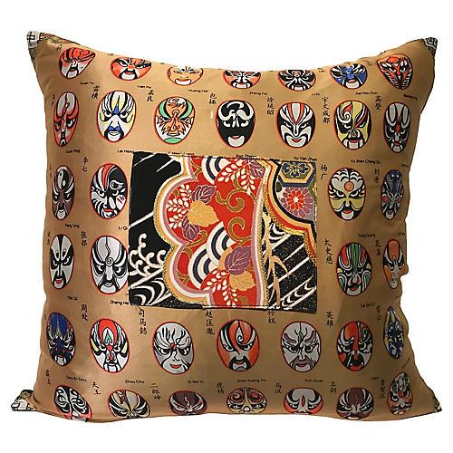 Silk Opera Mask Pillow