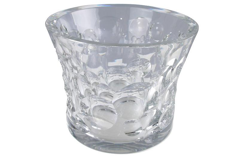 Decorative Heavy Crystal Ice Bucket