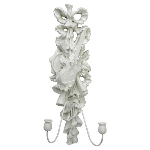 Florentine Plaster Wall Sconce