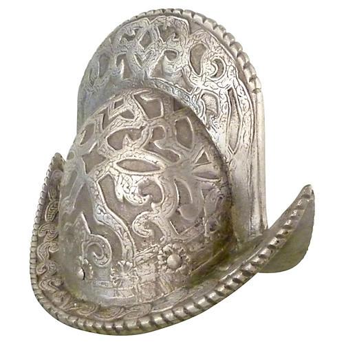 Heavy Decorative Pewter Helmet