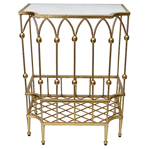 Handcrafted Gilded Console