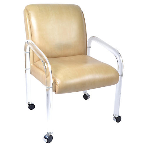 1970s Leon Frost-Style Lucite Armchair