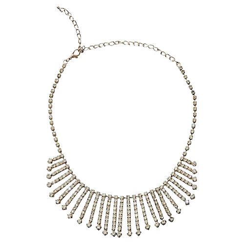 Rhinestone Bib Necklace