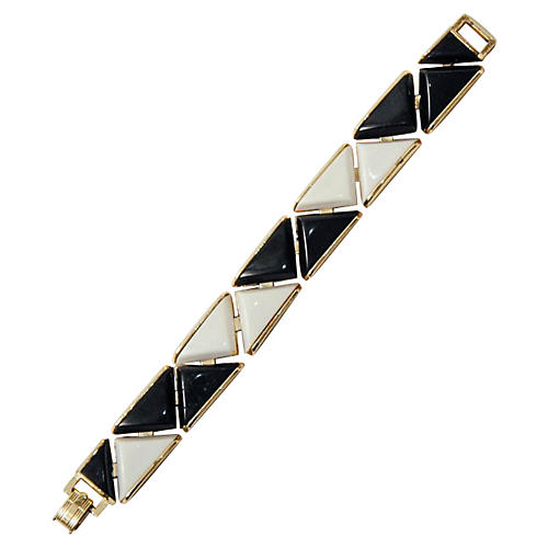 Black & White Triangle Bracelet