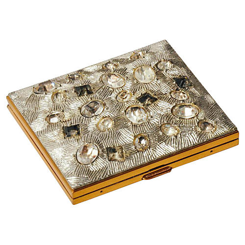 1950s Jeweled Rhinestone Compact