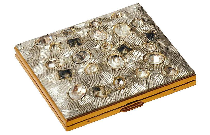 1950s Jeweled Rhinestone Compact