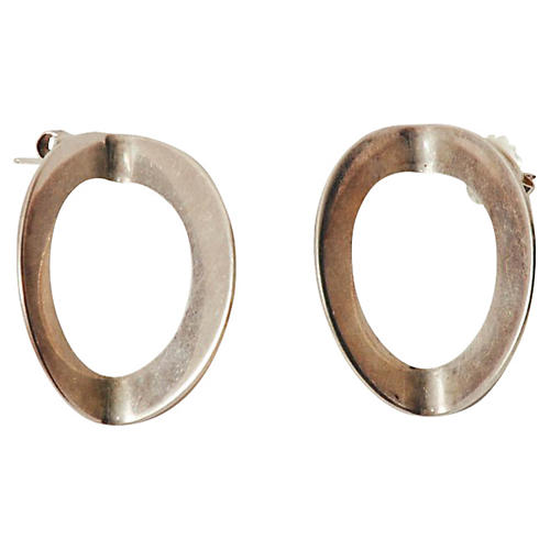 Betty Cooke Modernist Silver Earrings