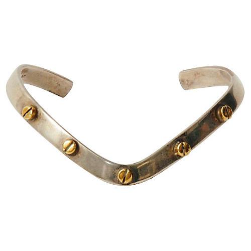 Sterling Silver V-Shaped Cuff Bracelet