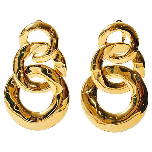 Triple-Link Circle Earrings