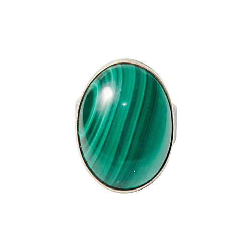 Malachite & Sterling Silver Ring