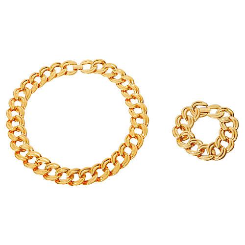 1980s Napier Necklace & Bracelet Set