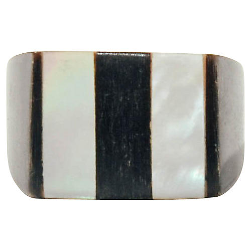 Graphic Horn & Shell Ring