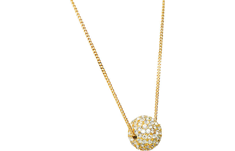 Rhinestone Ball Necklace - Maeven