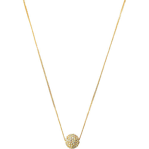Rhinestone Ball Necklace