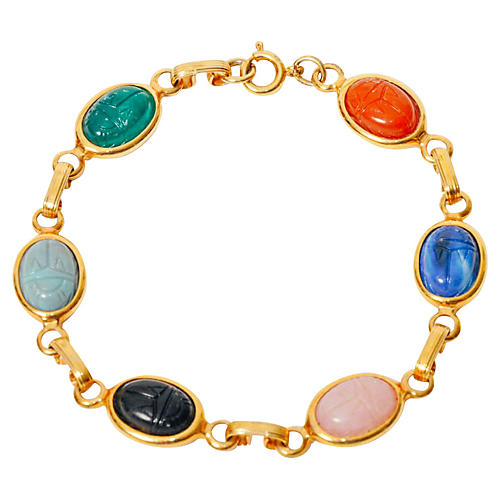 Scarab Link Bracelet