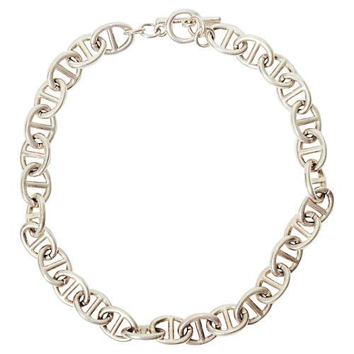 Silver Chain Link Choker