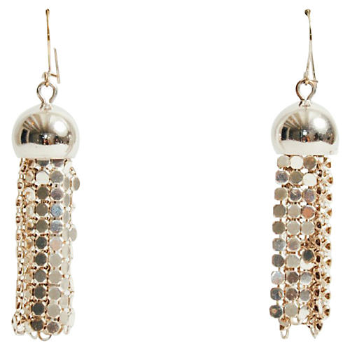 Whiting & Davis Mesh Fringe Earrings
