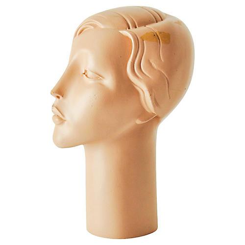 Art Deco Head Sculpture/Hat Form