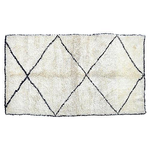 "Moroccan Tribal Rug, 4'5"" x 7'6"""