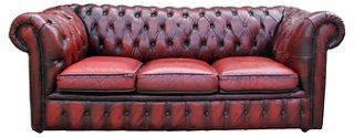 Charming Chesterfield Oxblood Sofa #3 - 1920s English Oxblood Chesterfield Sofa - AGAIN KatharineLake - Brands |  One Kings Lane