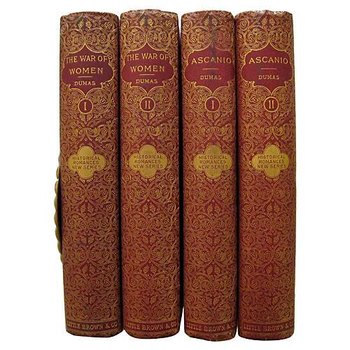 Alexandre Dumas Romantic Novels, 4 Vols